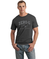 Mens Distressed Print Tshirt - Charcoal