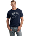 Mens Distressed Print Tshirt - Navy