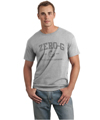 Mens Distressed Print Tshirt - Sport Grey
