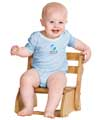 Infant Short Sleeve One Piece - Light Blue